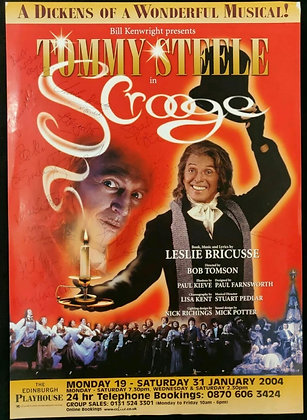 Scrooge Mini-Poster Signed Edinburgh Playhouse 2004