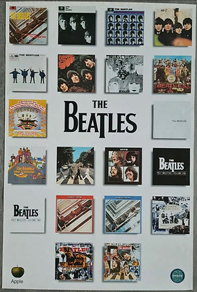 The Beatles Discography Record Store Promo Poster - 1990s, Onsite Instore