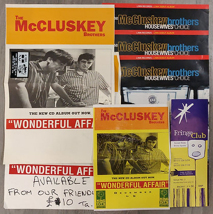 The McCluskey Brothers Gig Posters + Concert Memorabilia