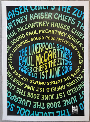 Paul McCartney 'The Liverpool Sound' Numbered Concert Poster - Liverpool 2008