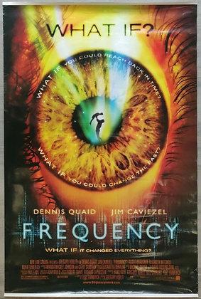 Frequency (2000) Original US One Sheet Poster - Dennis Quaid, Jim Caviezel