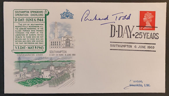 Richard Todd Signed First Day Cover with COA