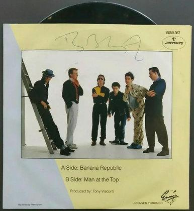 "Bob Geldof Signed The Boomtown Rats 'Banana Republic' 7"" Vinyl Single - 1980"