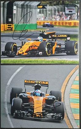 Jolyon Palmer Signed Photos (x2) - Formula One, Renault