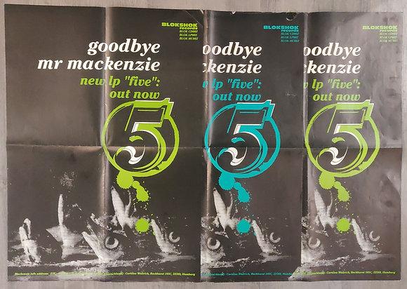 Goodbye Mr Mackenzie 'Five' Album Promo Poster (x3)