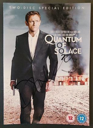 Daniel Craig Signed 'Quantum of Solace' DVD Sleeve