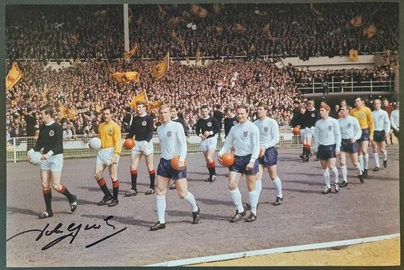 John Greig Signed Photo with COA - England V Scotland Qualifier, Wembley, 1967
