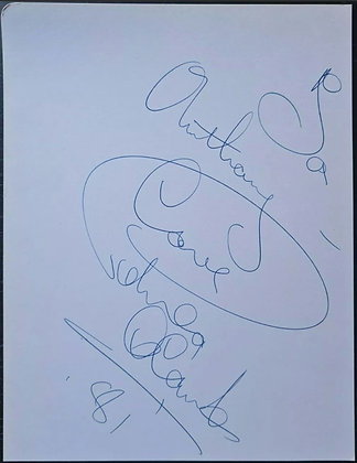 Petula Clark Signed Card from 1981 - Vocal Jazz/Pop Singer - 'Downtown'