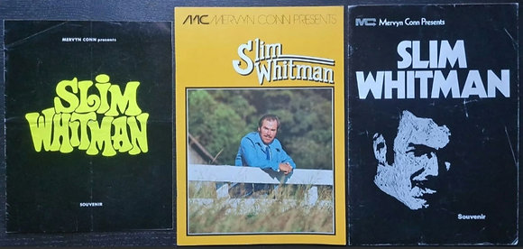 Slim Whitman UK Tour Programmes (x3) - 1971-1977