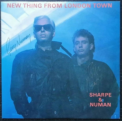 "Gary Numan & Bill Sharpe Signed 'New Thing From London Town' 7"" Vinyl"