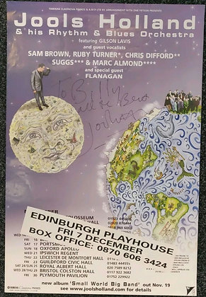Jools Holland Signed Poster Edinburgh Playhouse 2001