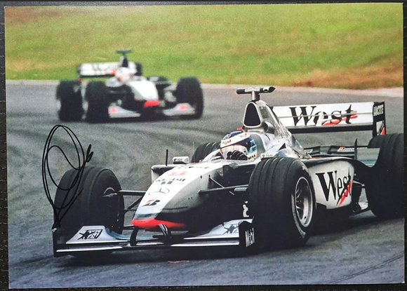 Mika Hakkinen Signed Photo - McLaren Formula One Team
