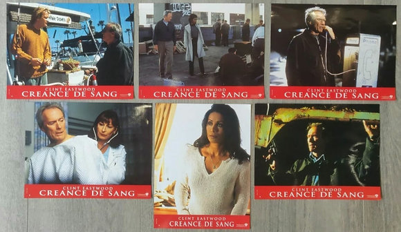 Blood Work (2002) French Lobby Cards (X6) - Clint Eastwood - Warner Bros