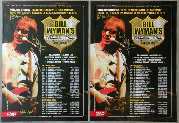 Bill Wyman's Rhythm Kings Signed Posters (X2) - Edinburgh, 2004 - Rolling Stones