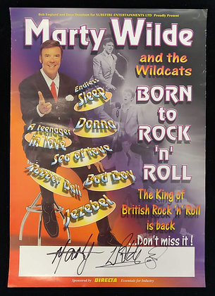 Marty Wilde Signed Poster - Marty Wilde And The Wildcats