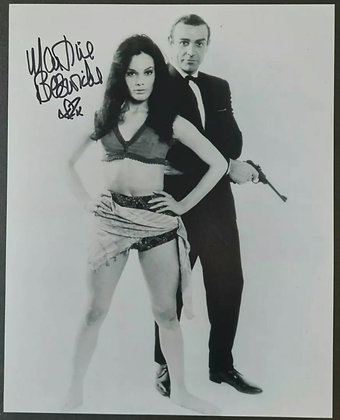 Martine Beswick Signed James Bond Photo - Sean Connery, From Russia With Love