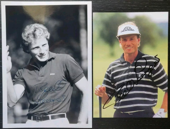 Bernhard Langer Signed Photos (X2) - Masters Champion 1985/93