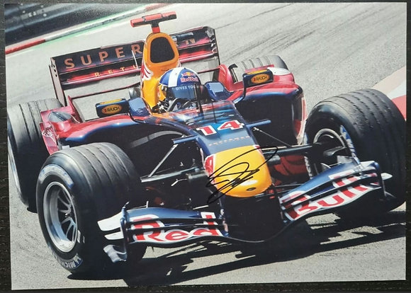 David Coulthard Signed Photo - Red Bull Racing, Formula One