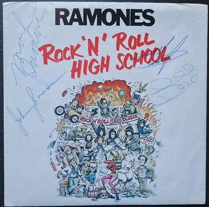 "Ramones Signed 'Rock 'N' Roll High School' Promo 7"" Vinyl"