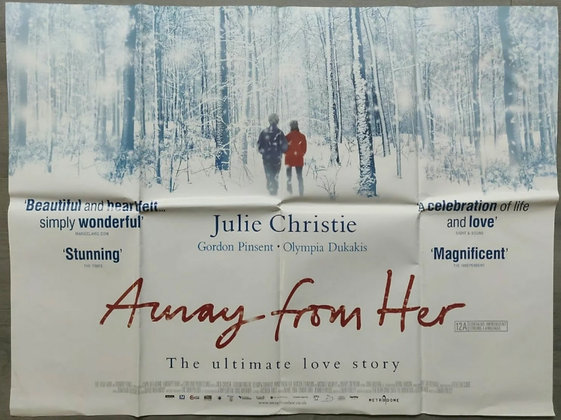 Away From Her (2006) UK Quad Poster - Julie Christie, Michael Murphy