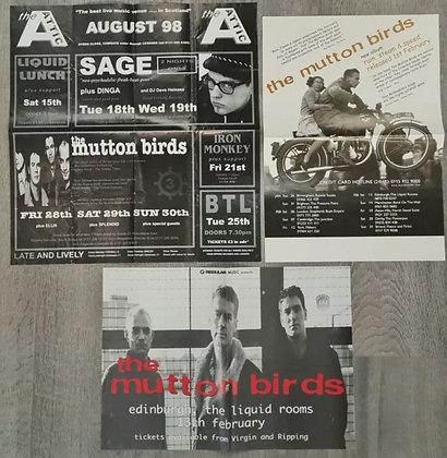 The Mutton Birds Promo Posters (X3) from 1998/99