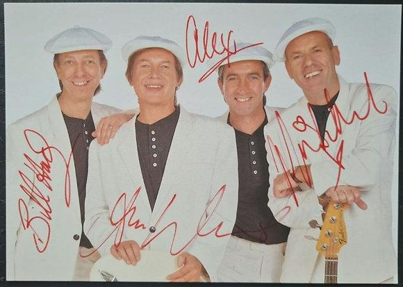 The Rubettes Signed Promo/Fanclub Card - Bill Hurd, Alan Williams + 2