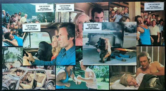Every Which Way But Loose (1978) German Lobby Cards (X8) - Clint Eastwood