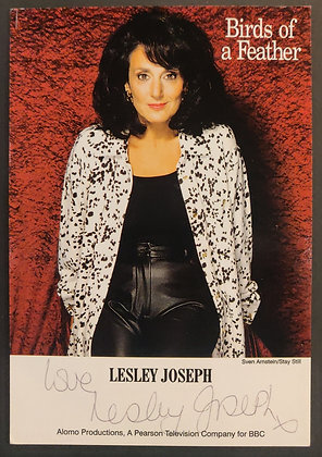 Lesley Joseph Signed 'Birds of a Feather' Promo Postcard