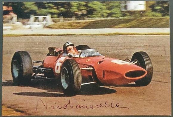 Nino Vaccarella Signed Photo - Ferrari 158, Italian GP,  Monza (1965)