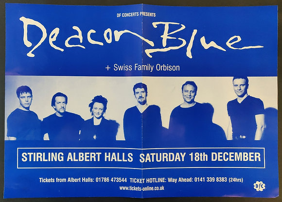 Deacon Blue Gig Poster from Stirling, 1999