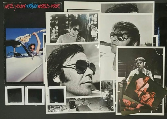 Neil Young Photo/Negative Pack used for 'Trans World Tour' Programme - 1982