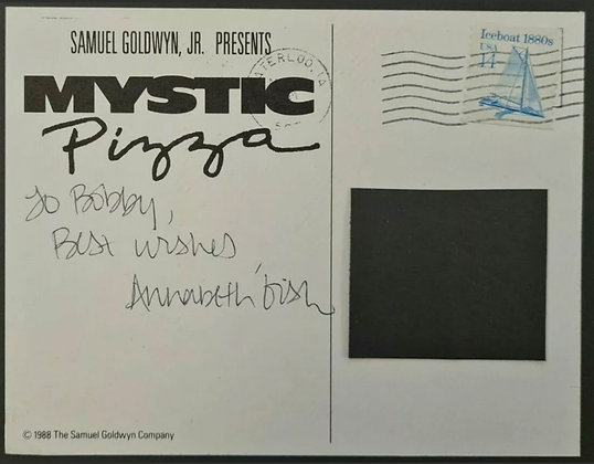 Annabeth Gish Signed 'Mystic Pizza' Promo Postcard from 1988