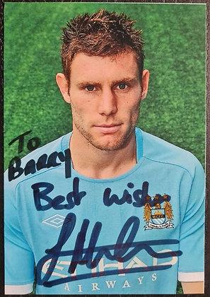 James Milner Signed Photo - Man City FC