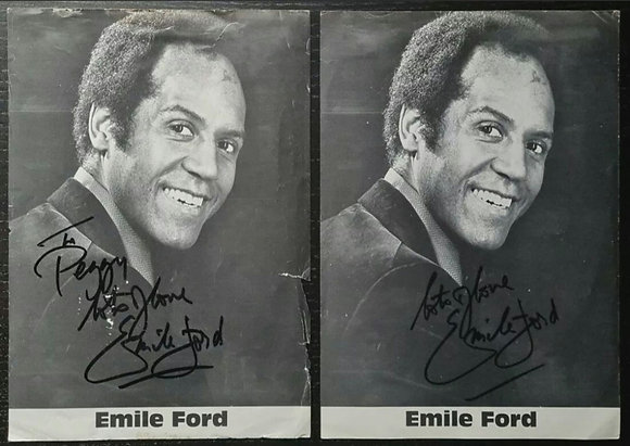 Emile Ford Signed Promo Photos (X2) - Walker Print