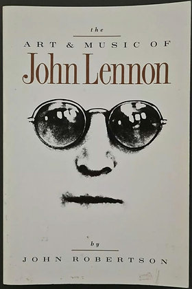 Hunter Davies Signed 'The Art & Music Of John Lennon' PB Book - John Robertson