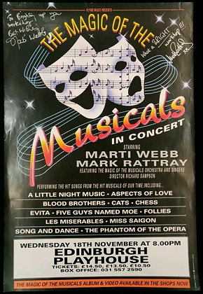 The Magic Of The Musicals Signed Poster Edinburgh Playhouse 1992