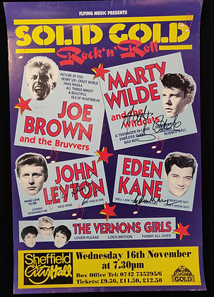 Solid Gold Rock 'N' Roll Signed Poster