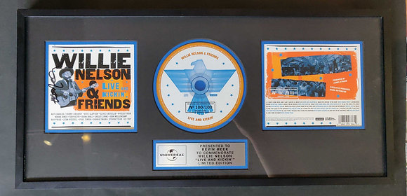 Willie Nelson Signed Award Display