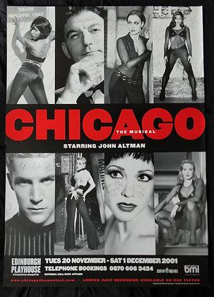 Chicago Cast Signed Poster - Edinburgh Playhouse 2001