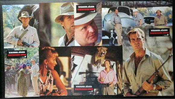 White Hunter Black Heart (1990) German Lobby Cards (X8) - Clint Eastwood, Warner
