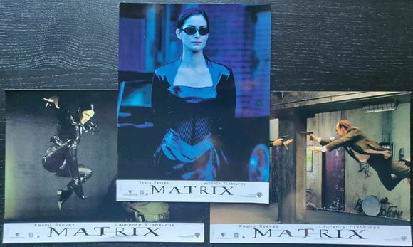 The Matrix (1999) French Lobby Cards (X3) - Keanu Reeves, Carrie-Anne Moss