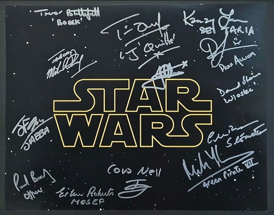 Star Wars Cast & Crew Members Multi-Signed Photo