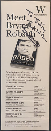 Bryan Robson Signed Promo Flyer - 2006