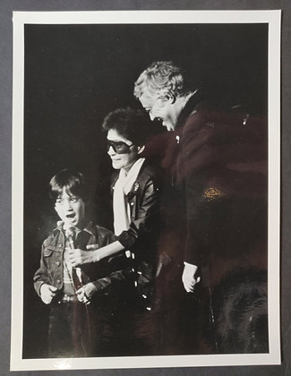 Sean Lennon, Yoko Ono and Scott Muni Press Photo