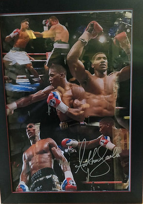 Anthony Joshua Signed & Framed Poster