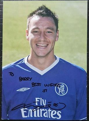 John Terry Signed Photo/Print - Chelsea FC, Aston Villa, England Captain