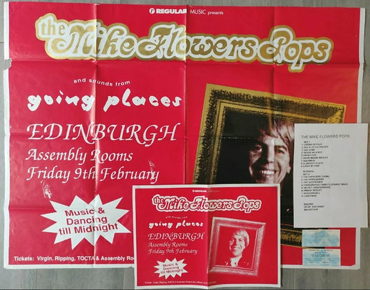 The Mike Flowers Pops - Edinburgh 1996 - Gig Posters, Setlist, Tickets