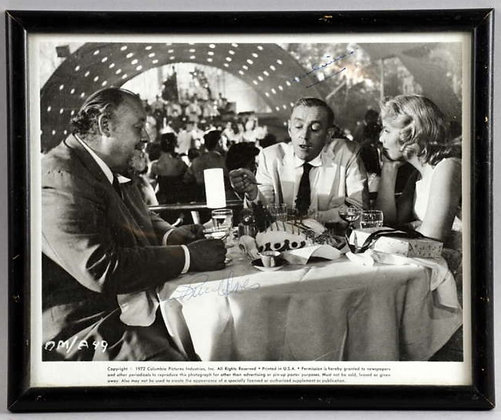 Alec Guinness & Burl Ives Signed Photo