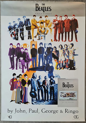 The Beatles 'Anthology' Book Promo Poster - 2000