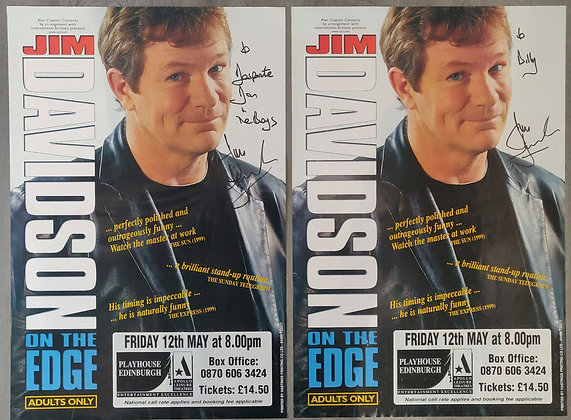 Jim Davidson Signed Posters (X2) from Edinburgh Playhouse, 2000